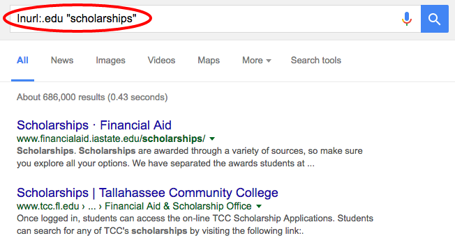 scholarship search string