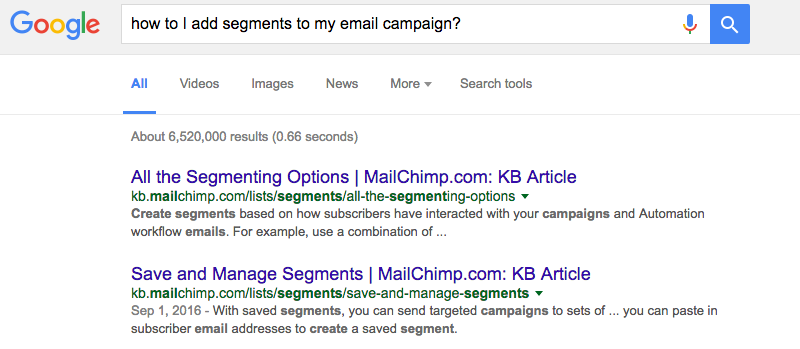 Search email marketing