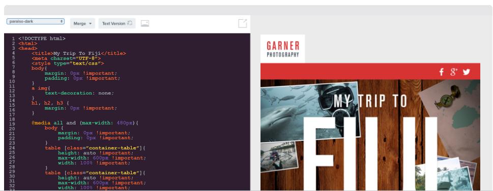 Benchmark HTML templates